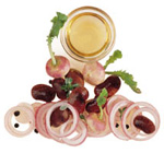 Salat aus Bohnen und Rübchen